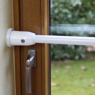 ADE Sicherungsstange Typ S für Einbruchschutz an Fenstern & Türen, weiß