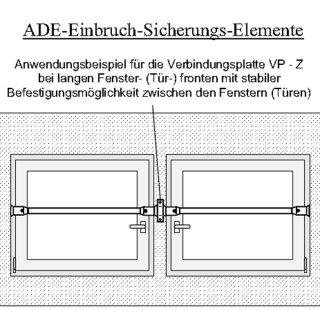 ADE Verbindungsplatte für Sicherungsstangen, braun