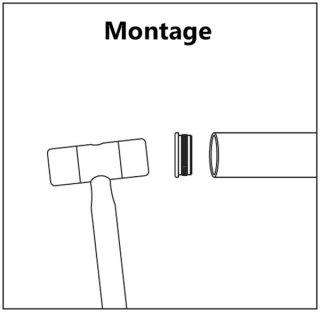 Rohrstopfen aus Edelstahl V2A geschliffen, Ø 42,4 mm, zum Einschlagen, flach, massiv