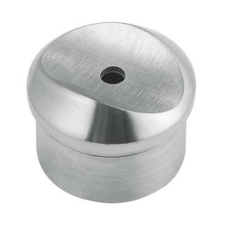 Adapter  für Ø 42,4 mm Rundrohre, V2A Edelstahl geschliffen