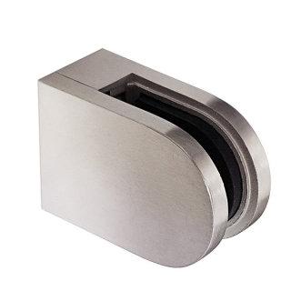 Glasscheibenhalter, V2A Edelstahl, halbrund, 45x63x28mm