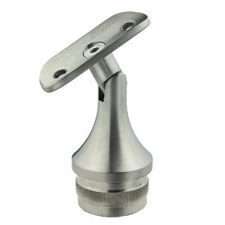 Handlaufträger, Rohrstütze kurz mit Gelenk für Rundrohr 42,4 x 2,0mm