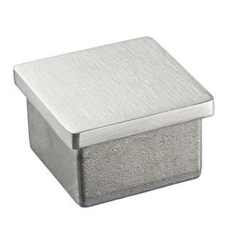 Endkappe für Vierkantrohr, Edelstahl V2A geschliffen, 30x30 & 40x40 mm