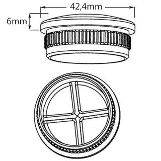 Endkappe für Handläufe, V2A Edelstahl geschliffen, Ø 42,4 mm, gewölbt, hohl
